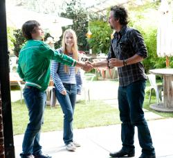 Josh Hutcherson, Mia Wasikowska and Mark Ruffalo in The Kids Are All Right.