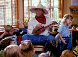 Arnold Schwarzenegger in Kindergarten Cop.
