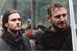 Orlando Bloom and Liam Neeson in Kingdom of Heaven.