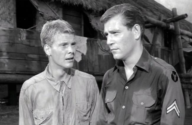 James Fox and George Segal in King Rat.