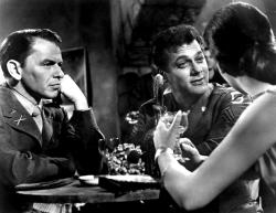 Frank Sinatra, Tony Curtis, and Natalie Wood in Kings Go Forth.