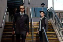 Colin Firth and Taron Egerton in Kingsman: The Secret Service.