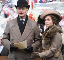 Colin Firth and Helena Bonham Carter as the Duke and Duchess of York.