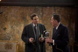 Colin Firth and Geoffrey Rush in The King's Speech.