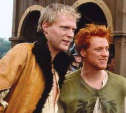 Paul Bettany and Alan Tudyk in A Knight's Tale.