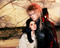 Jennifer Connelly and David Bowie in Labyrinth.