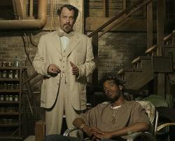 Tom Hanks and Marlon Wayans in The Ladykillers.