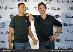 Peter and Benjamin Bratt promoting La Mission.