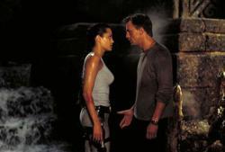 Angelina Jolie and Daniel Craig in Lara Croft: Tomb Raider.
