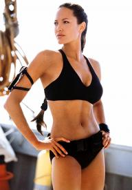 Angelina Jolie in Lara Croft: The Cradle of Life.