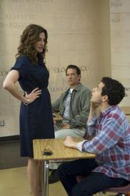 Julia Roberts, Tom Hanks and Rami Malek in Larry Crowne.