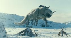 Appa, the giant flying bug - er buffalo in The Last Airbender.