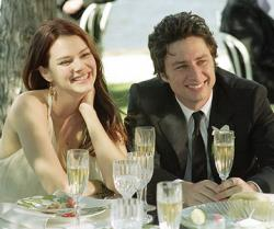 Jacinda Barrett and Zach Braff in The Last Kiss.