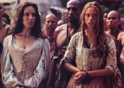 Madeline Stowe and Jodhi May in Last of the Mohicans.