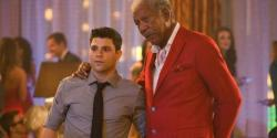 Jerry Ferrara and Morgan Freeman in Last Vegas