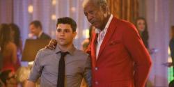 Jerry Ferrara and Morgan Freeman in Last Vegas