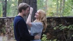 Zachary Booth and Patricia Clarkson in Last Weekend.
