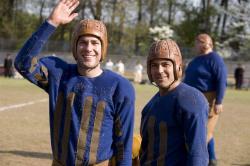John Krasinski and George Clooney in Leatherheads.