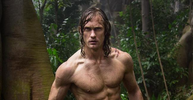 Alexander Skarsgård strikes a pose as Tarzan, in The Legend of Tarzan