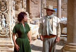 Sophia Loren and John Wayne in The Legend of the Lost