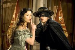 Catherine Zeta-Jones and Antonio Banderas in The Legend of Zorro.