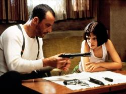 Jean Reno and Natalie Portman in Leon: The Professional.