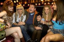 Mathew Horne, James Corden and a bunch of future lesbian vampires.