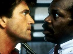 Mel Gibson and Danny Glover in Lethal Weapon.