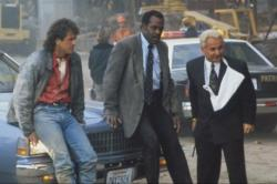 Mel Gibson, Danny Glover and Joe Pesci in Lethal Weapon 3.