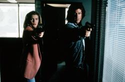 Rene Russo and Mel Gibson in Lethal Weapon 3.