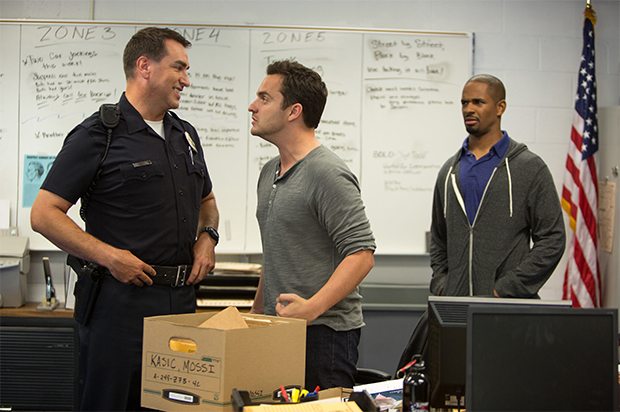 Rob Riggle, Jake Johnson and Damon Wayans Jr. in Let's Be Cops.