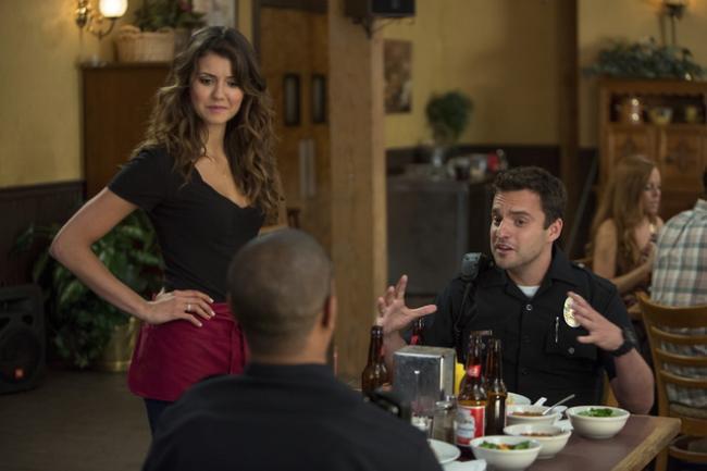 Nina Dobrev, Damon Wayans Jr., and Jake Johnson in Let's Be Cops.