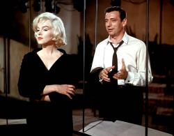 Marilyn Monroe and Yves Montand in Let's Make Love.