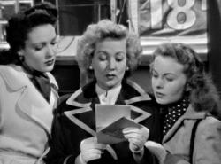 Linda Darnell, Ann Sothern and Jeanne Crain read A Letter to Three Wives.
