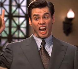 Jim Carrey in Liar Liar.