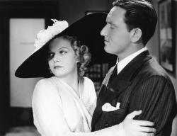 Jean Harlow and Spencer Tracy in Libeled Lady.