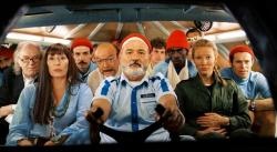 Bill Murray and cast in The Life Aquatic with Steve Zissou.