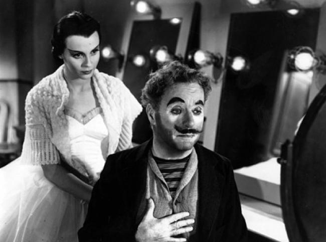 Claire Bloom and Charles Chaplin in Limelight.