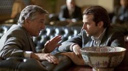 Robert Deniro and Bradley Cooper in Limitless.