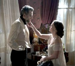 Daniel Day-Lewis and Sally Field as Abraham and Mary Lincoln.