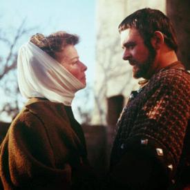 Katharine Hepburn and Anthony Hopkins in The Lion in Winter.