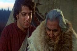 Dustin Hoffman and Chief Dan George in Little Big Man.