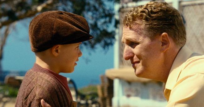 Jakob Salvati and Michael Rapaport in Little Boy.