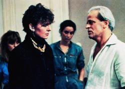 Diane Keaton and Klaus Kinski in The Little Drummer Girl.