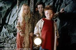 Anna Popplewell, Rollo Weeks and Jonathan Lipnicki in The Little Vampire