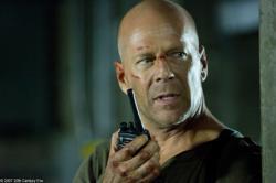 Bruce Willis in Live Free or Die Hard.