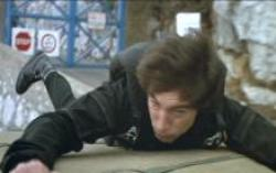 Timothy Dalton in action as 007 in The Living Daylights.