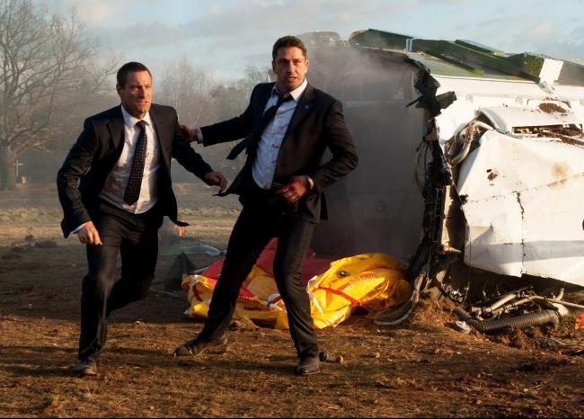 Aaron Eckhart and Gerard Butler in London has Fallen.