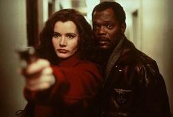 Geena Davis and Samuel L. Jackson in The Long Kiss Goodnight.