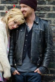 Imogen Poots and Aaron Paul in A Long Way Down